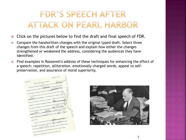 FDR's Speech after