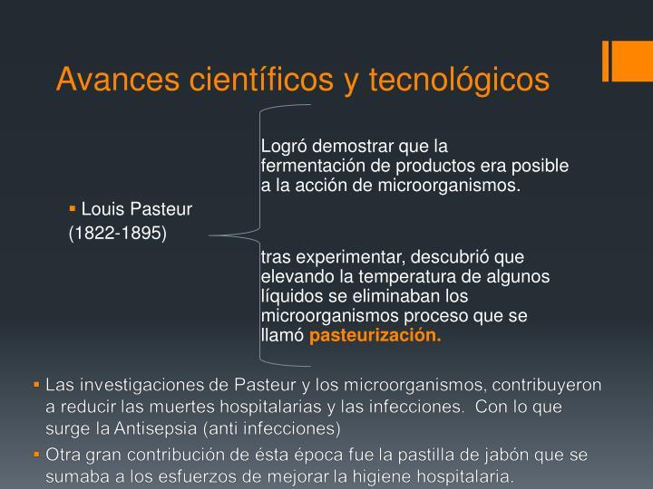 Avances científicos y tecnológicos