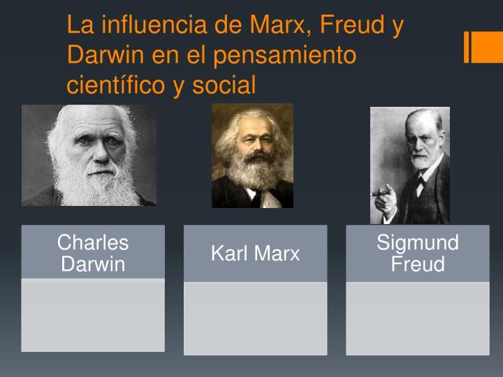 La influencia de Marx, Freud y Darwin en el pensamiento científico y social