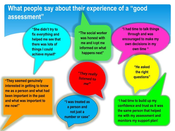 "What people say about their experience of a ""good"