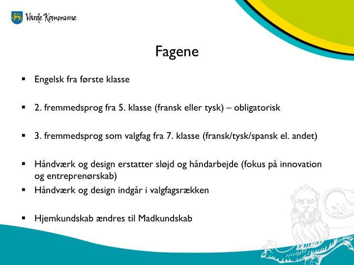 Fagene