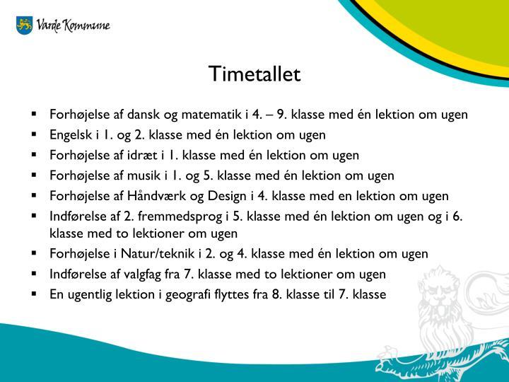 Timetallet