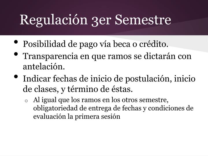 Regulación 3er Semestre