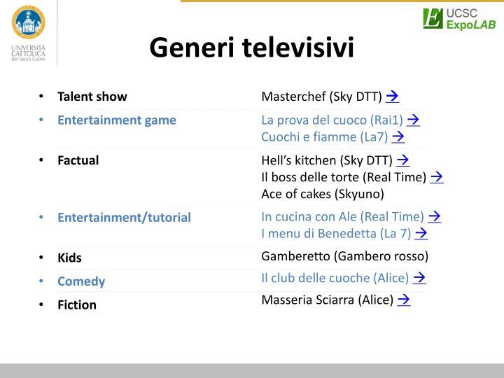 Generi televisivi