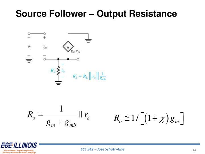Source Follower – Output Resistance