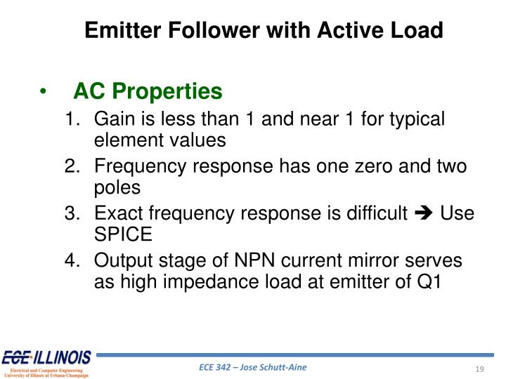 Emitter Follower with Active Load