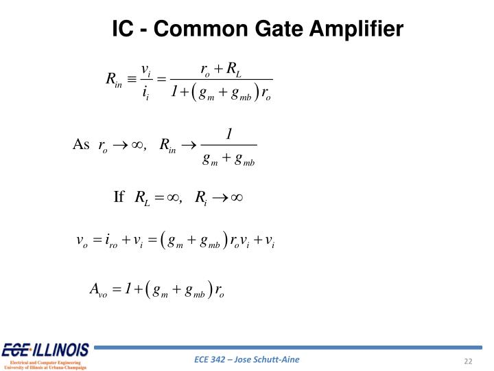 IC - Common Gate Amplifier