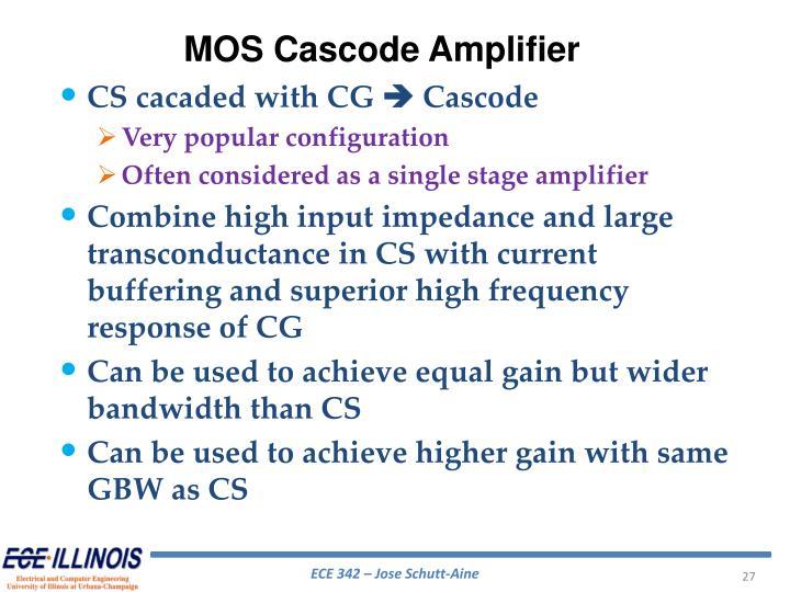 MOS Cascode Amplifier