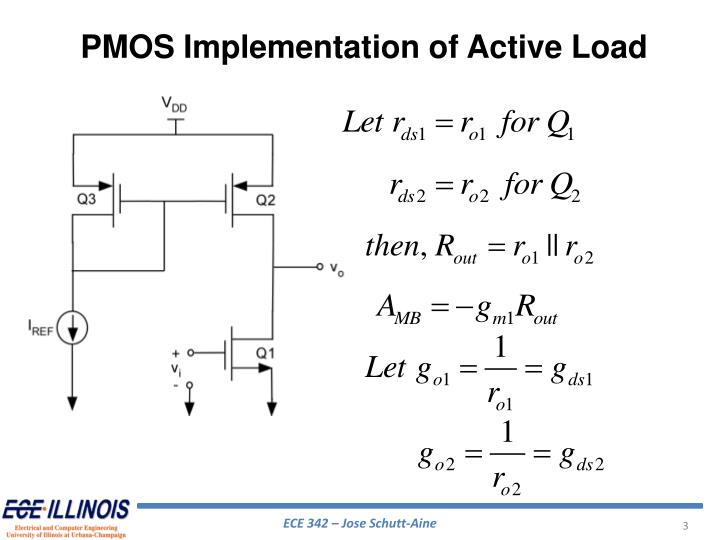 PMOS Implementation of Active Load