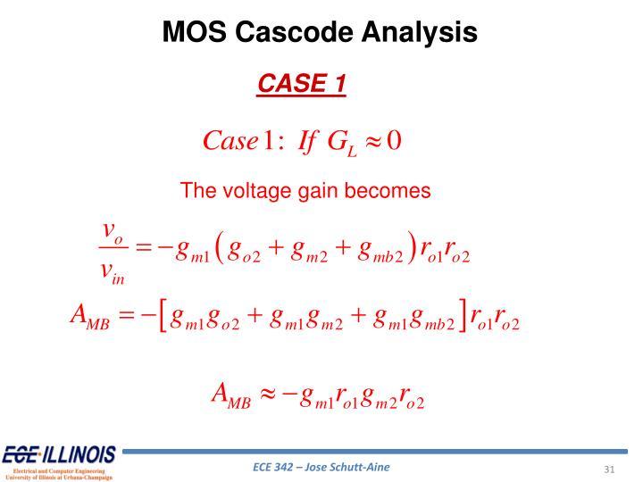 MOS Cascode Analysis