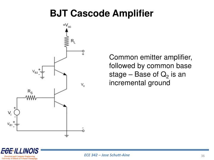 BJT Cascode Amplifier