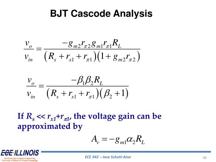 BJT Cascode Analysis