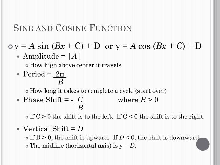 Sine and Cosine Function