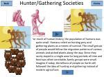 hunter gathering societies