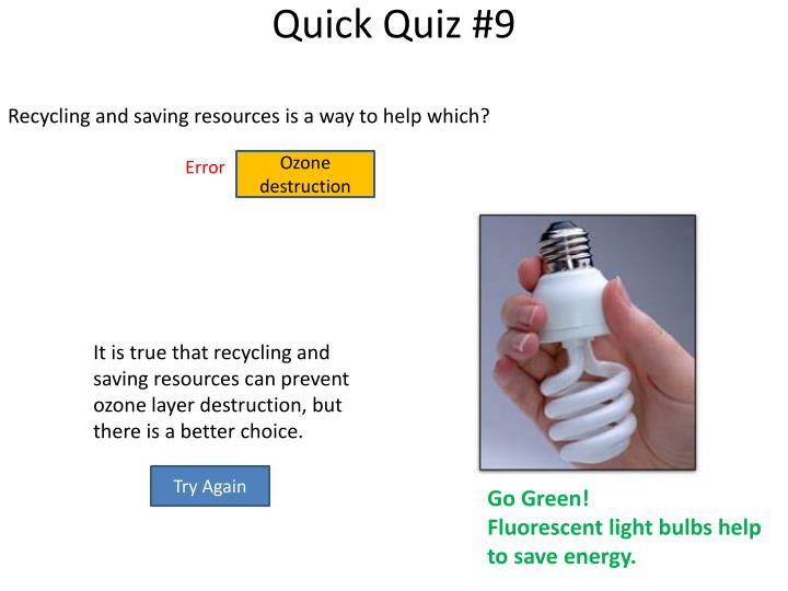 Quick Quiz #9