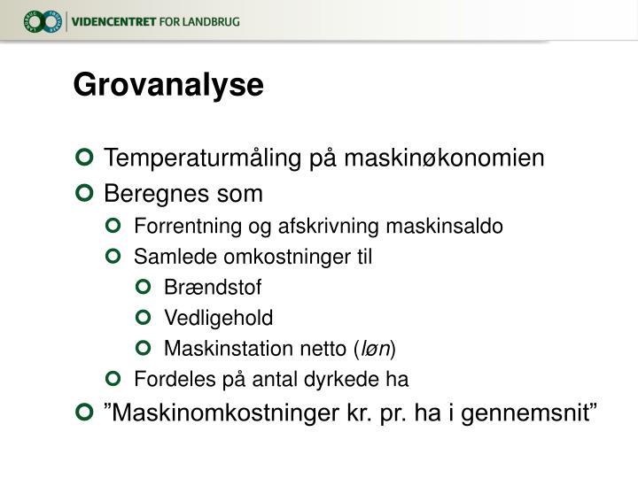 Grovanalyse