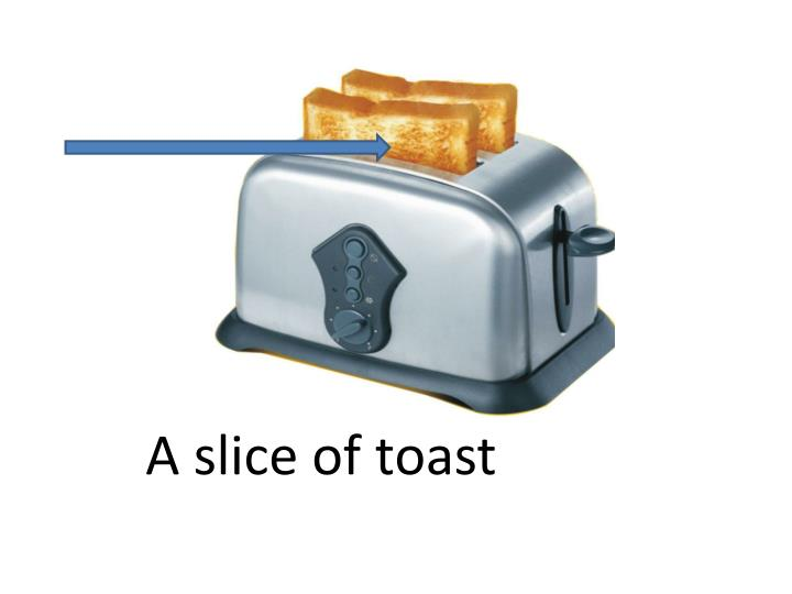 A slice of toast