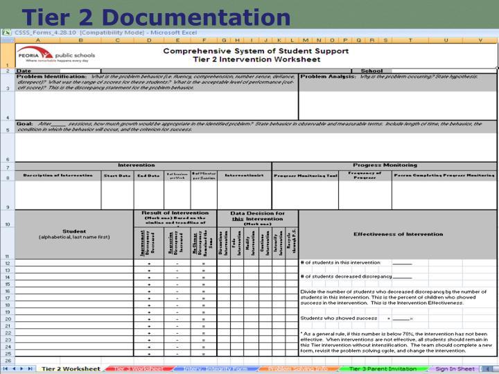 Tier 2 Documentation