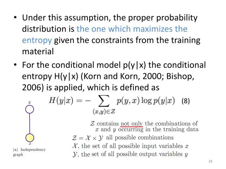 Under this assumption, the proper probability distribution is