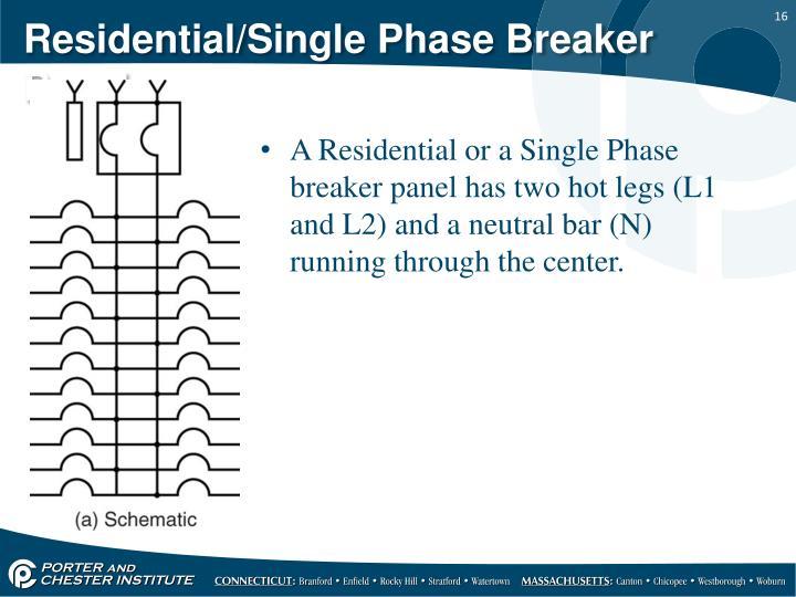 Residential/Single Phase Breaker Panel