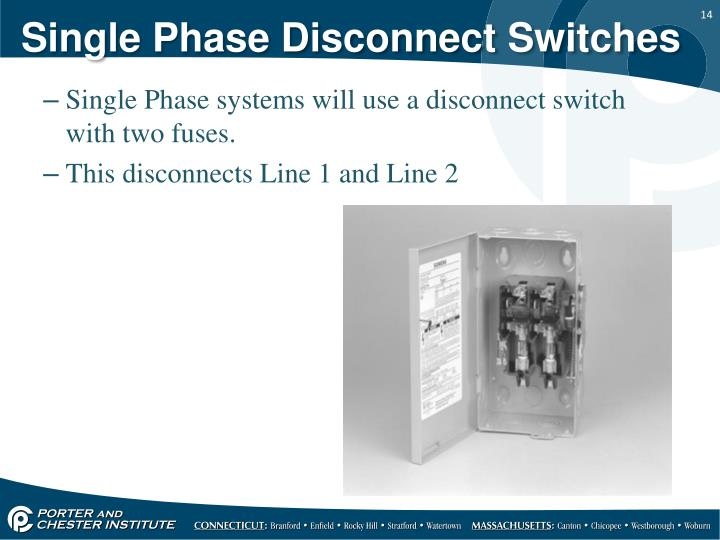 Single Phase Disconnect Switches