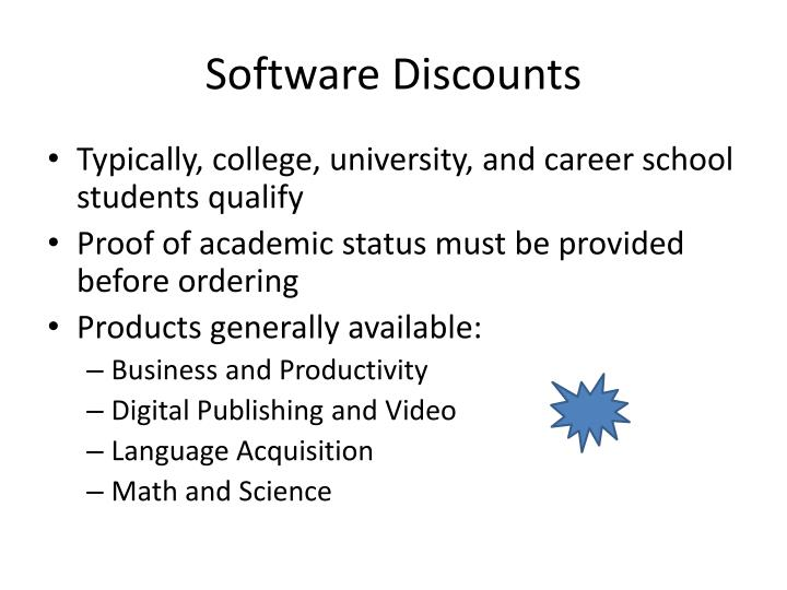 Software Discounts