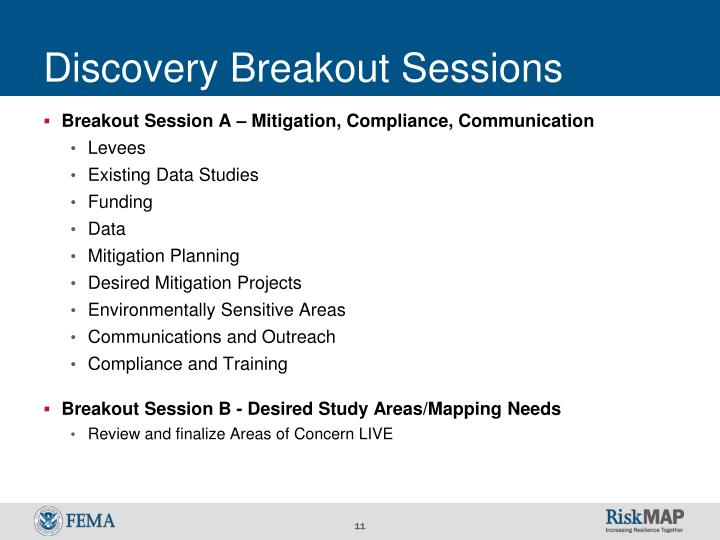 Discovery Breakout Sessions