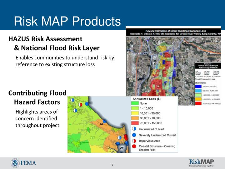 Risk MAP Products