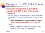 changes to the jtc 1 pas process1