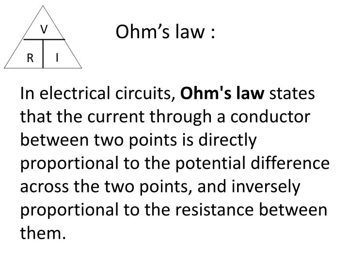 Ohm's law :