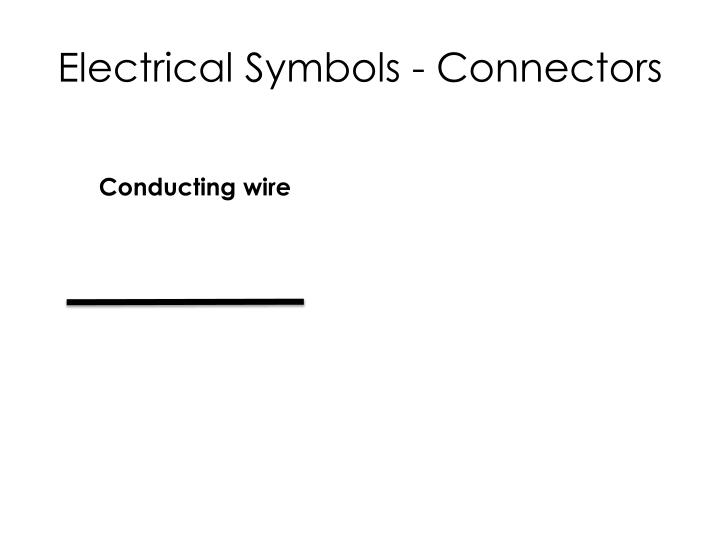 Electrical Symbols - Connectors