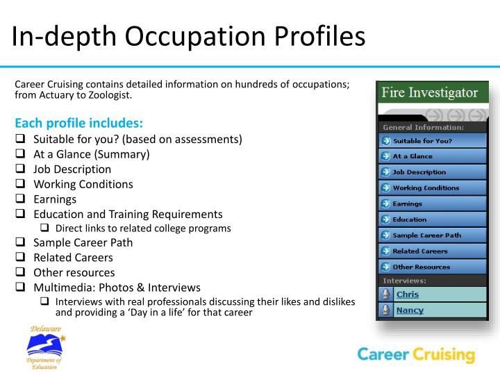 In-depth Occupation Profiles