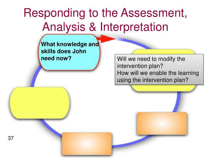 Responding to the Assessment, Analysis & Interpretation