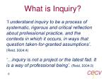 what is inquiry