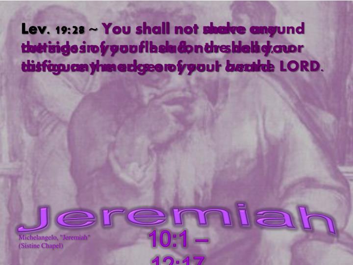 Lev. 19:28 ~