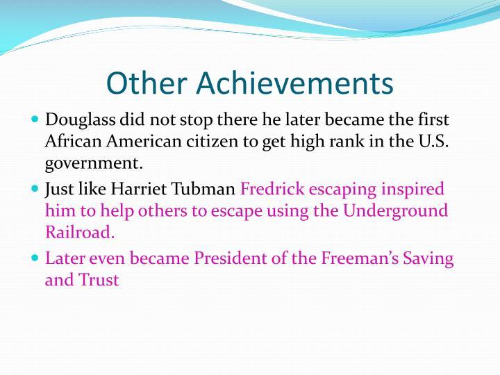 Other Achievements