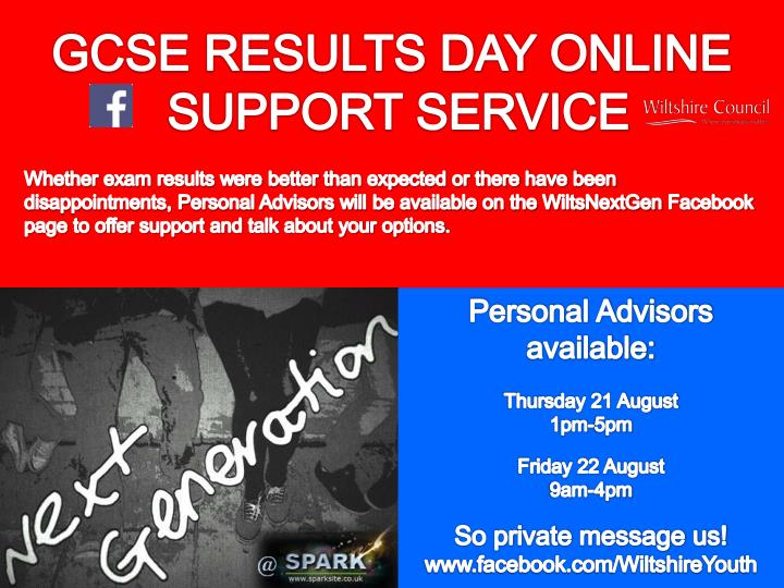 GCSE RESULTS DAY ONLINE