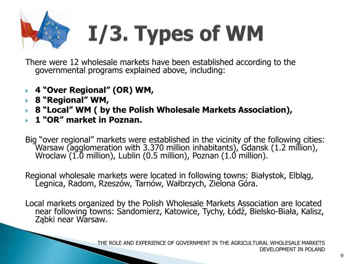 I/3. Types of WM