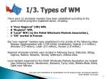 i 3 types of wm