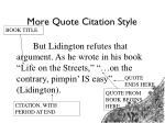 more quote citation style