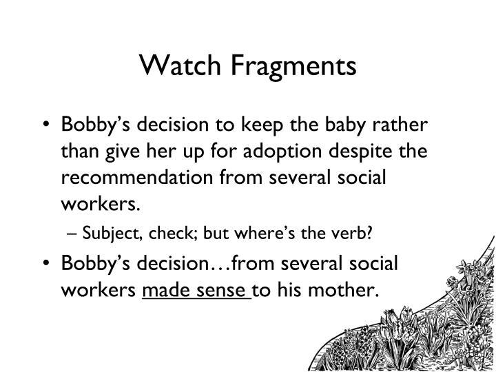 Watch Fragments