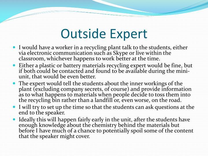 Outside Expert