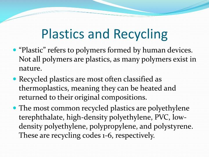 Plastics and Recycling