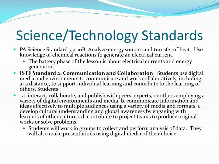 Science/Technology Standards