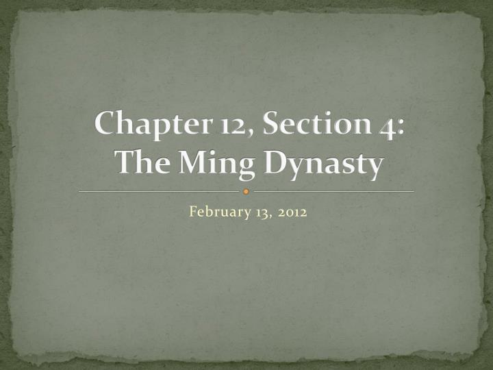 the ming dynasty essay Chinese empire china history essays - the ming dynasty.