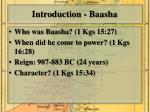 introduction baasha