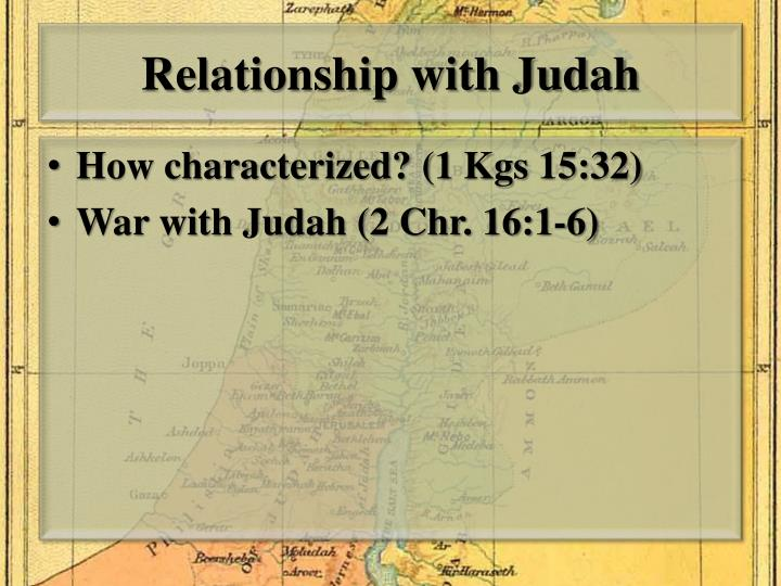 Relationship with Judah
