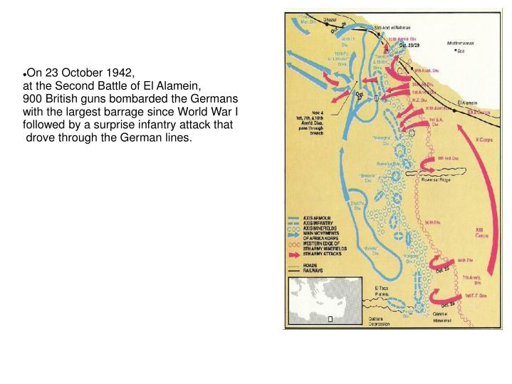 On 23 October 1942,