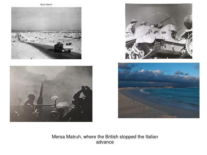 Mersa Matruh, where the British stopped the Italian advance