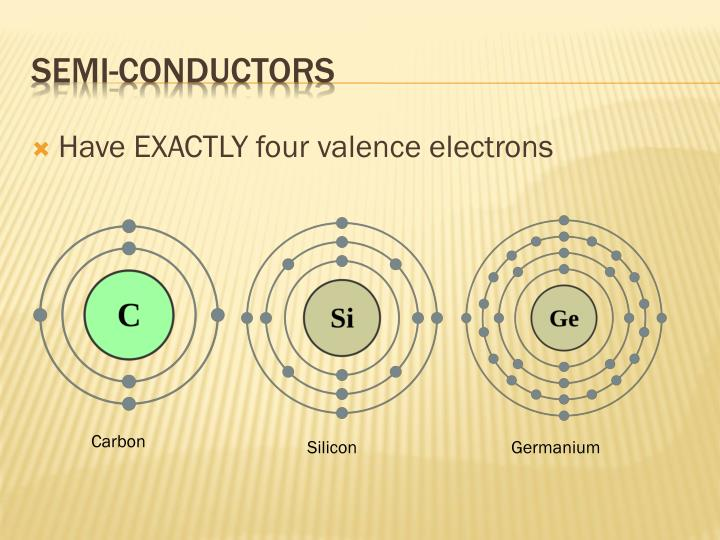 Have EXACTLY four valence electrons